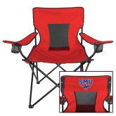 Deluxe Red Captains Chair-SMU w/Mustang
