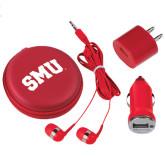 3 in 1 Red Audio Travel Kit-Block SMU