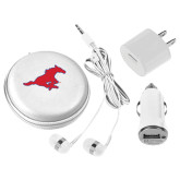 3 in 1 White Audio Travel Kit-Official Outlined Logo