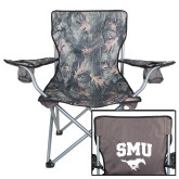 Hunt Valley Camo Captains Chair-SMU w/Mustang