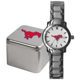 Mens Stainless Steel Fashion Watch-Official Outlined Logo