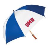 62 Inch Royal/White Umbrella-Block SMU