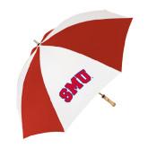 62 Inch Red/White Umbrella-Block SMU