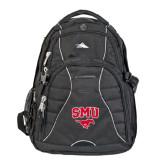 High Sierra Swerve Black Compu Backpack-SMU w/Mustang