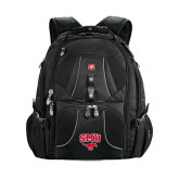 Wenger Swiss Army Mega Black Compu Backpack-SMU w/Mustang