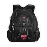 Wenger Swiss Army Mega Black Compu Backpack-SMU w/Mustang