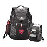 High Sierra Big Wig Black Compu Backpack-SMU w/Mustang