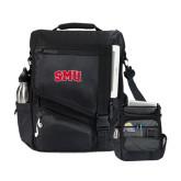 Momentum Black Computer Messenger Bag-Block SMU
