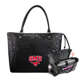 Sophia Checkpoint Friendly Black Compu Tote-SMU w/Mustang