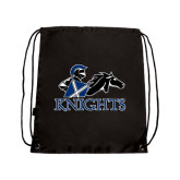 Black Drawstring Backpack-Primary Logo
