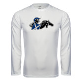 Syntrel Performance White Longsleeve Shirt-Knight