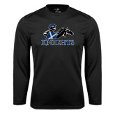 Syntrel Performance Black Longsleeve Shirt-Primary Logo