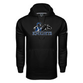 Under Armour Black Performance Sweats Team Hoodie-Primary Logo