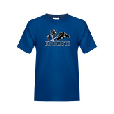 Youth Royal T Shirt-Primary Logo