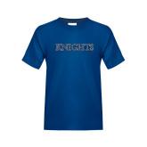 Youth Royal T Shirt-Knights Word Mark