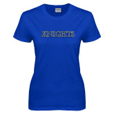 Ladies Royal T Shirt-Knights Word Mark