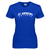 Ladies Royal T Shirt-St. Andrews Knights Arched