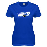 Ladies Royal T Shirt-Knights Slanted w/ Knight