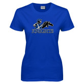 Ladies Royal T Shirt-Primary Logo Distressed