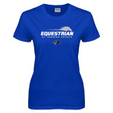 Ladies Royal T Shirt-Equestrian Flat w/ Silhouette