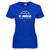 Ladies Royal T Shirt-St. Andrews Soccer Half Ball