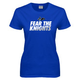 Ladies Royal T Shirt-Fear The Knights