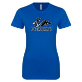 Next Level Ladies SoftStyle Junior Fitted Royal Tee-Primary Logo