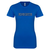 Next Level Ladies SoftStyle Junior Fitted Royal Tee-Knights Word Mark
