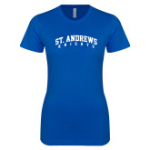 Next Level Ladies SoftStyle Junior Fitted Royal Tee-St. Andrews Knights Arched