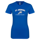 Next Level Ladies SoftStyle Junior Fitted Royal Tee-St. Andrews Arched Equestrian