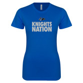 Next Level Ladies SoftStyle Junior Fitted Royal Tee-Knights Nation