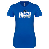 Next Level Ladies SoftStyle Junior Fitted Royal Tee-Fear The Knights