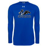 Under Armour Royal Long Sleeve Tech Tee-Primary Logo