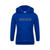 Youth Royal Fleece Hoodie-Knights Word Mark
