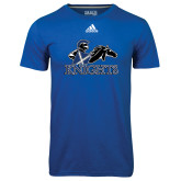 Adidas Climalite Royal Ultimate Performance Tee-Primary Logo