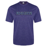 Performance Royal Heather Contender Tee-Knights Word Mark