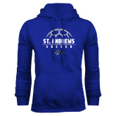 Royal Fleece Hoodie-St. Andrews Soccer Half Ball