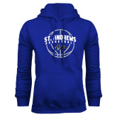 Royal Fleece Hoodie-St. Andrews Basketball Arched