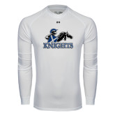 Under Armour White Long Sleeve Tech Tee-Primary Logo
