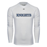 Under Armour White Long Sleeve Tech Tee-Knights Word Mark