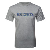 Grey T Shirt-Knights Word Mark