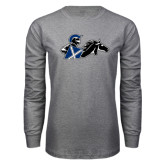 Grey Long Sleeve T Shirt-Knight