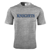 Performance Grey Heather Contender Tee-Knights Word Mark