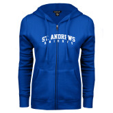 ENZA Ladies Royal Fleece Full Zip Hoodie-St. Andrews Knights Arched