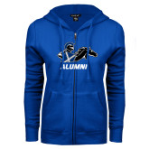 ENZA Ladies Royal Fleece Full Zip Hoodie-Alumni