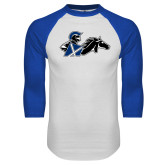 White/Royal Raglan Baseball T Shirt-Knight
