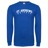 Royal Long Sleeve T Shirt-St. Andrews Knights Arched