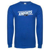 Royal Long Sleeve T Shirt-Knights Slanted w/ Knight