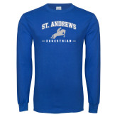 Royal Long Sleeve T Shirt-St. Andrews Arched Equestrian