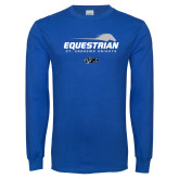 Royal Long Sleeve T Shirt-Equestrian Flat w/ Silhouette